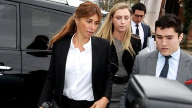 Jodhi Meares arrives at Waverley Local Court.
