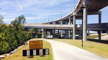The section of the bikeway remains closed 18 months after the completion of Airport Link.