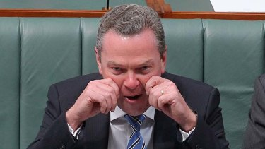 """Mr Pyne blamed journalists for getting confused about his pre-election commitments on school funding""."