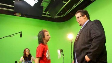 Briz 31 general manager and host of The Late Nite show Scott Black on set with James Flash and Amanda Bacchi.