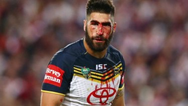 Claret Cowboy: James Tamou bleeds for the cause.