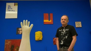 RMIT School of Art Gallery curator Phil Edwards in the exhibition about abject art failures.
