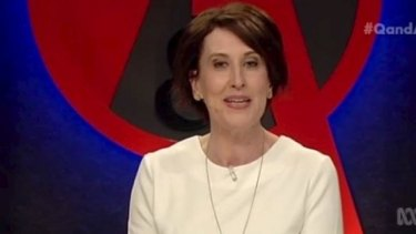 Virginia Trioli handled the Q&A hosting role with aplomb on Monday night.