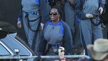 Oprah Winfrey in the BridgeClimb jumpsuit.