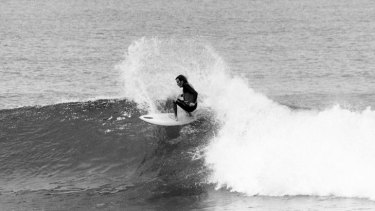 Peterson at Bells Beach in 1974.