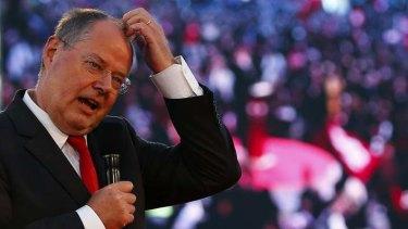 Action man: Social Democrat Peer Steinbrueck, above, calls for more action.