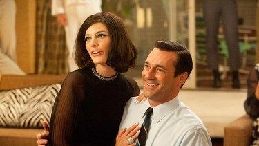 <i>Mad Men</i>: Megan (Jessica Pare) and Don Draper (Jon Hamm).