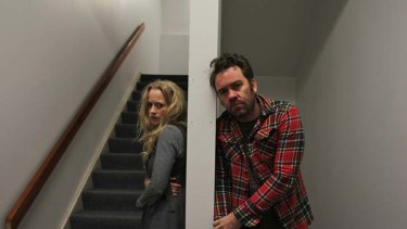 Challenging ... Brendan Cowell and Anna Lise Phillips.