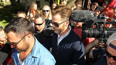 American actor Chris Pine leaves the Ashburton District Court on March 17, 2014 in Christchurch, New Zealand. Police say the actor was stopped at a routine drink driving check in Metheven early in March this year.