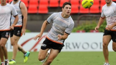 Banned: Tigers five-eighth Mitchell Moses.