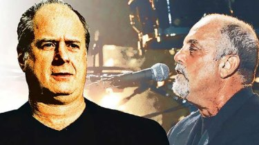 Michael Gudinski (left) was tuned in to Billy Joel (right) at a concert in New York.