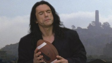 Pet project: <i>The Room</i>'s writer/director/financier Tommy Wiseau in a scene from the film.