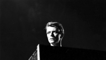 British pop singer David Bowie in concert at Earl's Court, London during his 1978 world tour. (Photo by Evening Standard/Getty Images)