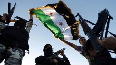 Free Syrian Army members in Idlib.