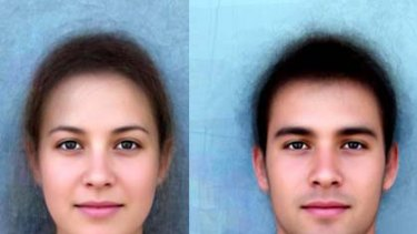 "The ""average"" Sydneysider - a composite image made up of over 100 faces."