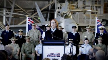 Prime Minister Julia Gillard announces the government's 2013 Defence White Paper.