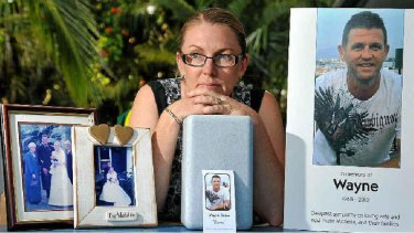Michelle Dover, widow of Wayne Dover. Photo: Iain Curry /Sunshine Coast Daily