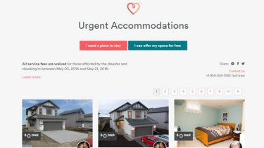 Properties were listed for free in Canada during the recent wildfires.