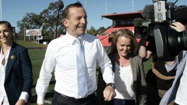 Tony Abbott and Fiona Scott.
