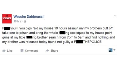 Wasim Dabboussi takes aim at the police over the raids.