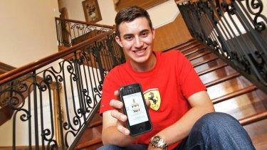 Teenage entrepreneur Xavier Di Petta says the basic idea behind his app ventures is to have fun.