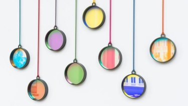 Bi pendants by Jiro Kamata: The jeweller's pieces collect light and turn it into colour.