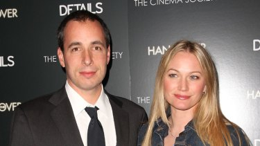 Then there were five ... Sarah Wynter and husband Details magazine editor Dan Peres.