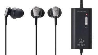 19ed5e0cbfc Audio-Technica ATH-ANC23 QuietPoint noise-cancelling earbuds.