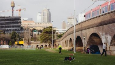 The city moves on as the homeless remain under the arches at Wentworth Park.