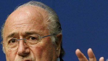Cleared ... FIFA president Sepp Blatter.