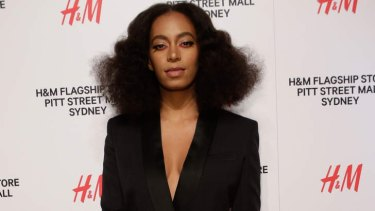Charm offensive: Solange Knowles at the H&M opening.