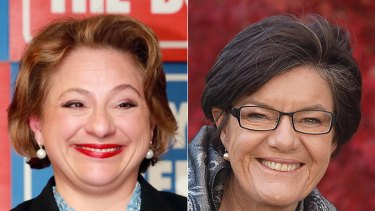 Sophie Mirabella, left, and Cathy McGowan.