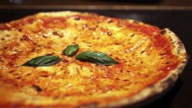 The classic margherita pizza.