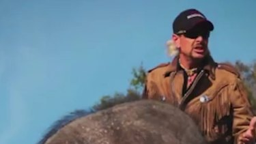 Watch the music video to Joe Exotic's song '96 Elephants.'