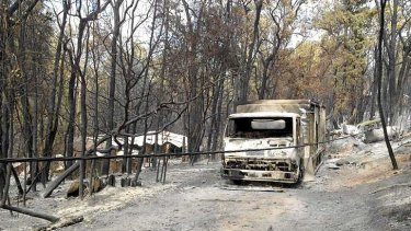 Perth hills in the fire's aftermath.