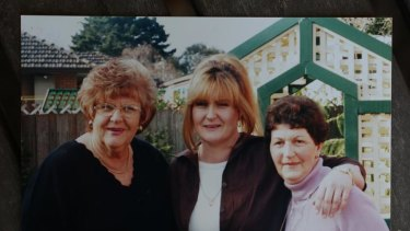 A family photo of Robin with her birth mother Sandra (left) and her adoptive mother Nan.