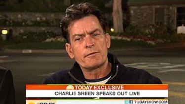 Opening up ... Charlie Sheen speaks to the Today show.