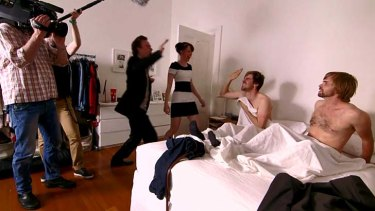 Bamboozled: the TV crew enter the bedroom near the end of the film.