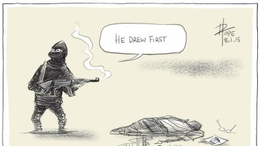 David Pope's Walkley award-winning cartoon, published on January 8.