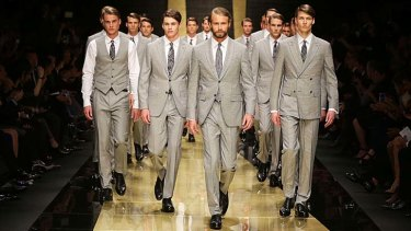 Models showcase designs by Zegna during the 50th Anniversary Wool Awards in Sydney last year.