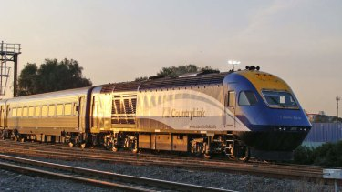 """The Countrylink XPT, short for """"express passenger train""""."""