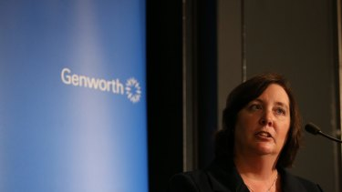"""Georgette Nicholas, chief executive of Genworth, expects house prices to """"moderate"""", as a result of the regulator's crackdown on interest-only lending, and the recent rate hikes."""