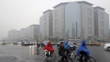 A hazy day in Beijing last week.