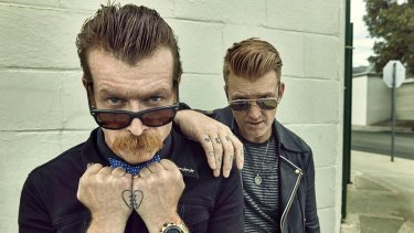 Jesse Hughes and Josh Homme from Eagles of Death Metal.