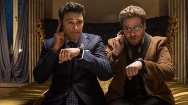 """James Franco, left, and Seth Rogen in """"The Interview."""""""