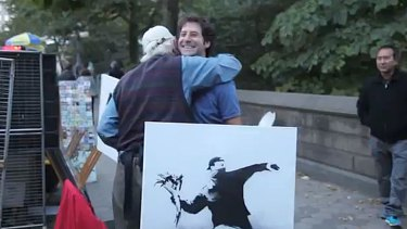 A Chicago man scores hundreds of thousands of dollars worth of Banksy art for $60 each in New York.