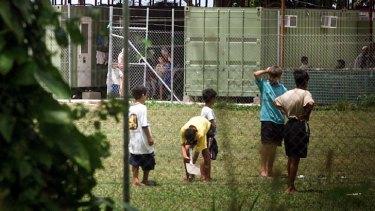 Home:  Asylum-seeker children at Lombrum Naval Base, Manus Island.