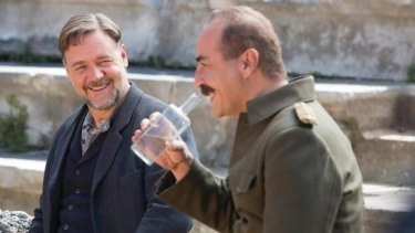 Shared the top prize: Russell Crowe as Joshua Connor and Yilmaz Erdogan as Major Hasan in <i>The Water Diviner</i>.