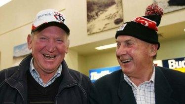 St Kilda legend Darrel Baldock with great friend Graeme Lee.
