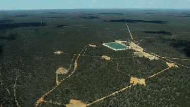 Some of Santos' operations in the Pilliga Forest near Narrabri.